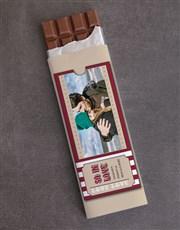Personalised Photo Ticket 300g Chocolate Slab