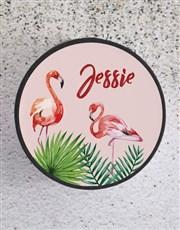 Personalised Pink Flamingo Hat Box
