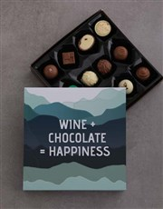 Personalised Wine And Chocolate Joy Gift Set