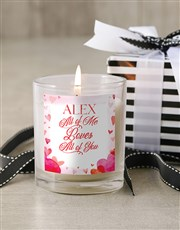 Personalised All Of Me Candle