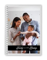 Personalised Family Blessings Notebook