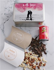Personalised Photo With Love Snack Tin
