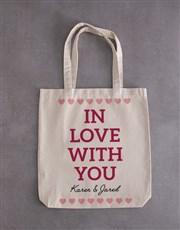 Personalised In Love Teddy Tote Bag