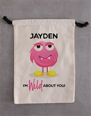 Personalised Monster Teddy Drawstring Bag