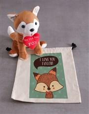 Personalised Fox And Drawstring Hamper