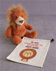 Personalised Drawstrings And Lion Hamper