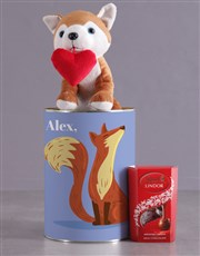 Personalised Foxy Howl Hamper