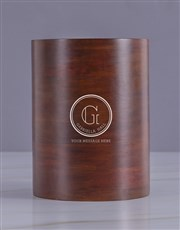 Personalised Message Wooden Ice Bucket