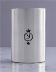 Personalised Crown Silver Ice Bucket