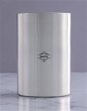 Personalised Tribal Flora Silver Ice Bucket
