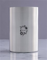 Personalised Flora Realistic Silver Ice Bucket