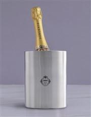 Personalised Badge Silver Ice Bucket