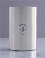 Personalised Minimal Silver Ice Bucket