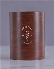 Personalised Minimal Wooden Ice Bucket
