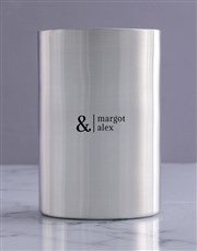 Personalised Simple Couples Silver Ice Bucket