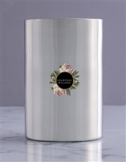Personalised Rose Haven Silver Ice Bucket