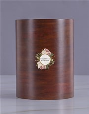 Personalised Rose Haven Wooden Ice Bucket