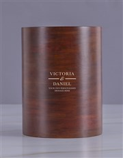 Personalised Victorian Lovers Wooden Ice Bucket