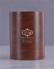 Personalised Wedding Anniversary Wooden Ice Bucket