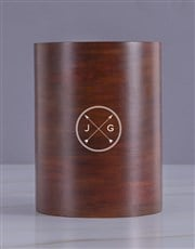 Personalised Cross Arrow Wooden Ice Bucket
