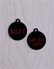 Personalised Red ID Tag And XS Collar