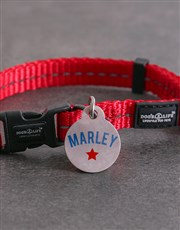Personalised Star ID Tag And XS Collar