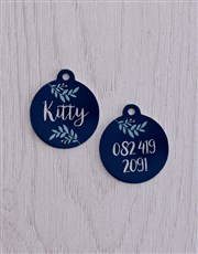 Personalised Leaf ID Tag And XS Collar