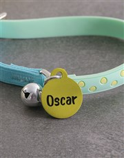 Personalised Yellow ID Tag And Cat Collar