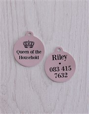Personalised Queen ID Tag And Collar