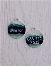 Personalised Blue Shade ID Tag And Collar