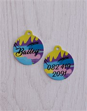 Personalised Disco ID Tag And Collar