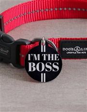 Personalised Boss ID Tag And Collar