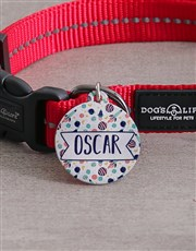 Personalised Rocket ID Tag And Collar