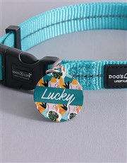 Personalised Tropical ID Tag And Collar