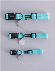 Personalised Colour Blocks ID Tag And Collar