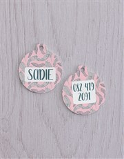 Personalised Feather ID Tag And Collar