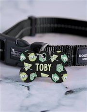 Personalised Dinosaur ID Tag And Collar