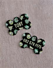Personalised Dinosaur ID Tag And Collar