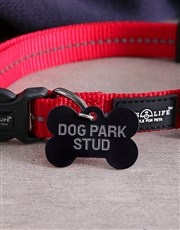 Personalised Park Bone ID Tag And Collar