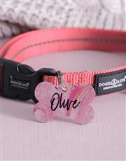 Personalised Paint Bone ID Tag And Collar