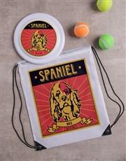 Personalised Spaniel Dog Set
