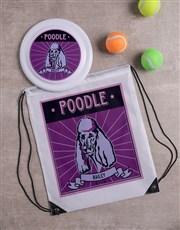 Personalised Poodle Dog Set