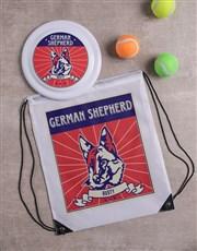 Personalised German Shepherd Dog Set