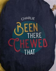 Personalised Chewed That Denim Bed