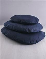 Personalised Trio Name Denim Bed And Bowl