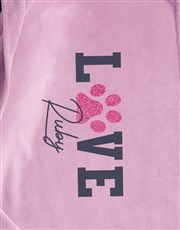 Personalised Love Dog Bed And Blanket