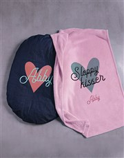 Personalised Sloppy Kisser Dog Bed And Blanket