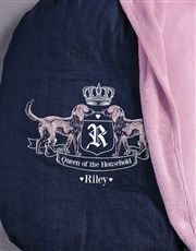 Personalised Queen Of The House Dog Bed And Blanke