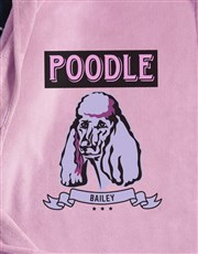 Personalised Pink Poodle Dog Bed And Blanket