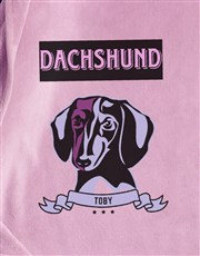 Personalised Pink Dachshund Dog Bed And Blanket